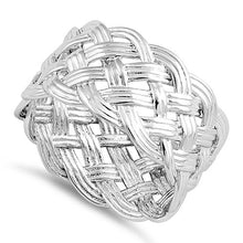 Load image into Gallery viewer, Sterling Silver Woven Knot Ring