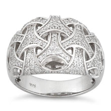 Load image into Gallery viewer, Sterling Silver Woven Pave CZ Ring