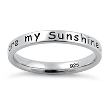 "Load image into Gallery viewer, Sterling Silver ""You Are My Sunshine, My Only Sunshine"" Ring"