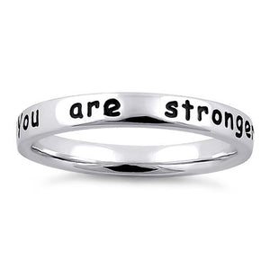 "Sterling Silver ""You are stronger than you know"" Ring"