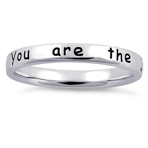 "Sterling Silver ""You are the joy in my heart"" Ring"