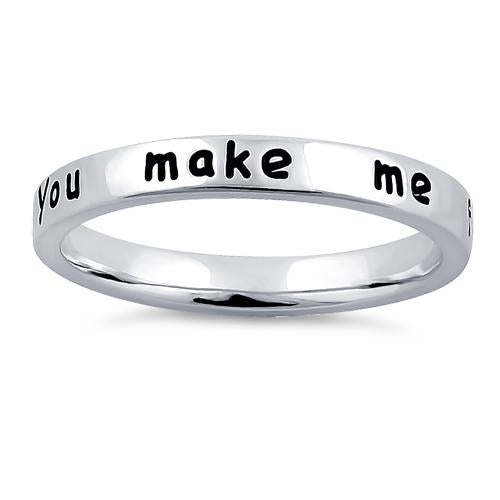 "Sterling Silver ""You make me feel like smiling!"" Ring"