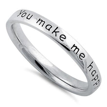 "Load image into Gallery viewer, Sterling Silver ""You Make Me Happy When Skies Are Grey"" Ring"