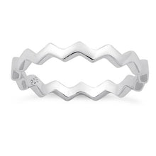 Load image into Gallery viewer, Sterling Silver Zig Zag Ring
