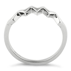 Sterling Silver ZigZag Pattern Ring