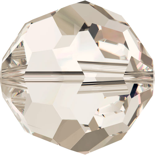 Swarovski Beads 5000 Round, 3MM, Crystal Silver Shade - Pack of 20