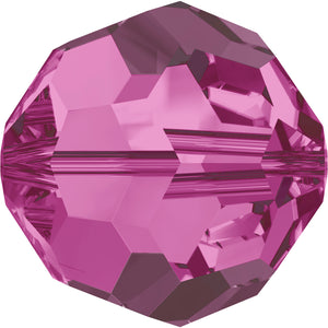 Swarovski Beads 5000 Round, 4MM, Fuchsia - Pack of 15