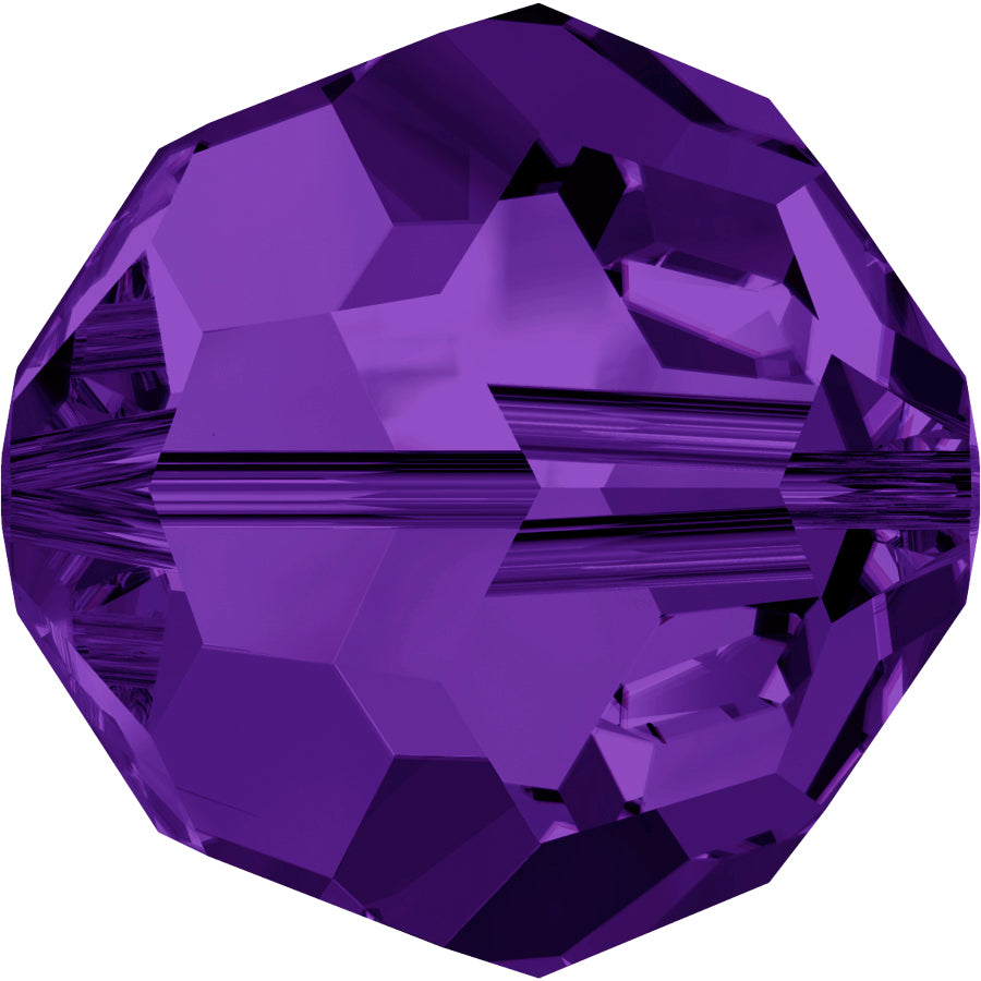 Swarovski Beads 5000 Round, 4MM, Purple Velvet - Pack of 15