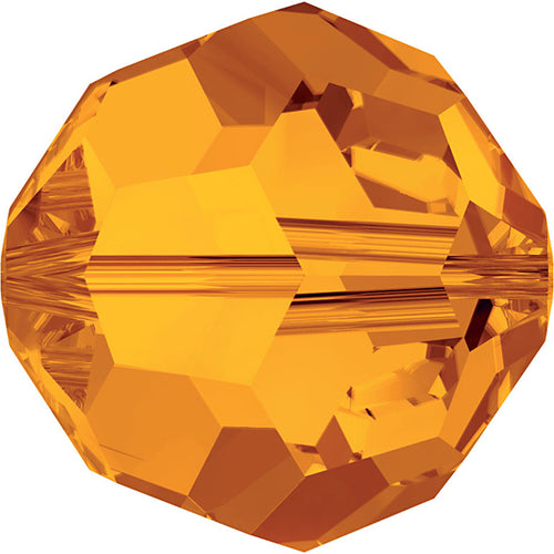 Swarovski Beads 5000 Round, 8MM, Tangerine - Pack of 8