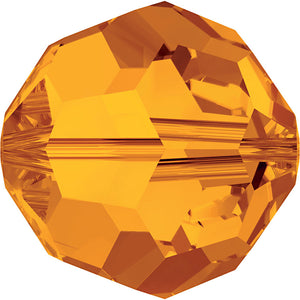 Swarovski Beads 5000 Round, 6MM, Tangerine - Pack of 10