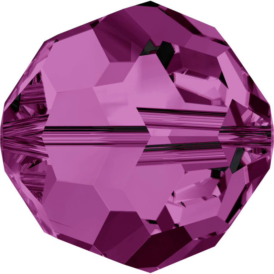 Swarovski Beads 5000 Round, 4MM, Amethyst - Pack of 15