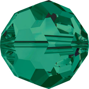 Swarovski Beads 5000 Round, 4MM, Emerald - Pack of 15