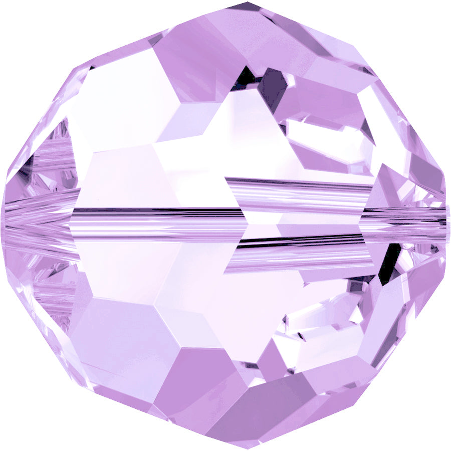 Swarovski Beads 5000 Round, 4MM, Light Amethyst - Pack of 15