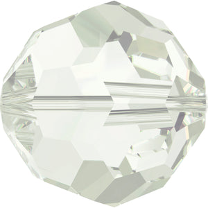 Swarovski Beads 5000 Round, 4MM, Light Grey Opal - Pack of 15