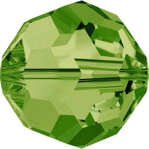 Swarovski Beads 5000 Round, 4MM, Olivine - Pack of 15