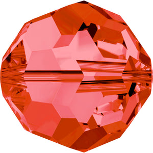 Swarovski Beads 5000 Round, 4MM, Padparadscha - Pack of 15