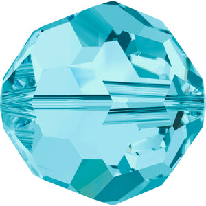 Swarovski Beads 5000 Round, 6MM, Aquamarine - Pack of 10