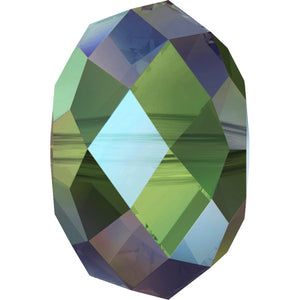 Swarovski Beads 5040 Briolette, 6MM, Crystal Iridescent Green - Pack of 10