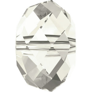 Swarovski Beads 5040 Briolette, 4MM, Crystal Silver Shade - Pack of 15
