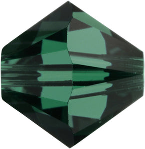 Swarovski Beads 5328 Bicone, 2.5MM, Emerald - Pack of 30