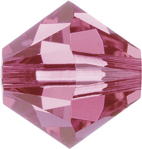 Swarovski Beads 5328 Bicone, 2.5MM, Rose - Pack of 30