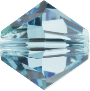 Swarovski Beads 5328 Bicone, 3MM, Aquamarine - Pack of 30