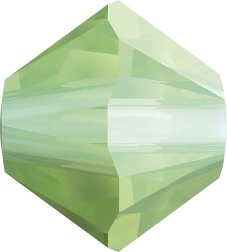 Swarovski Beads 5328 Bicone, 3MM, Chrysolite Opal - Pack of 30