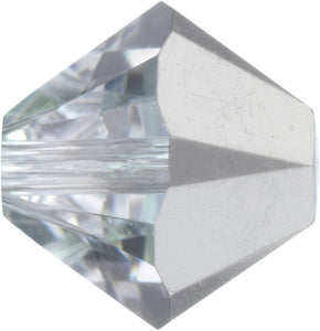 Swarovski Beads 5328 Bicone, 3MM, Crystal Comet Argent Light - Pack of 30