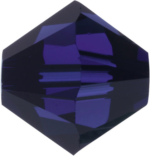 Swarovski Beads 5328 Bicone, 3MM, Dark Indigo - Pack of 30