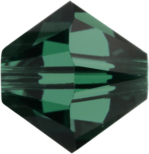 Swarovski Beads 5328 Bicone, 3MM, Emerald - Pack of 30