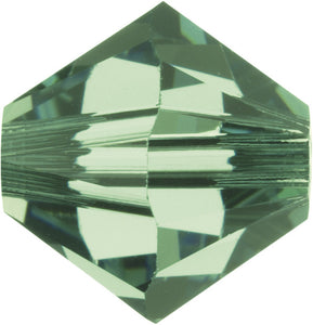 Swarovski Beads 5328 Bicone, 3MM, Erinite - Pack of 30