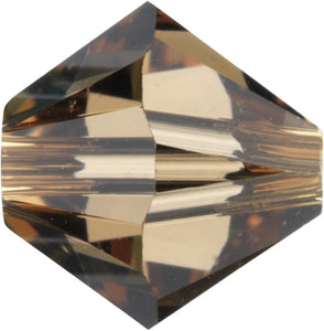 Swarovski Beads 5328 Bicone, 3MM, Light Smoked Topaz - Pack of 30