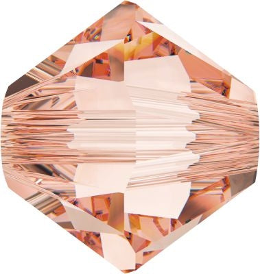 Swarovski Beads 5328 Bicone, 3MM, Rose Peach - Pack of 30