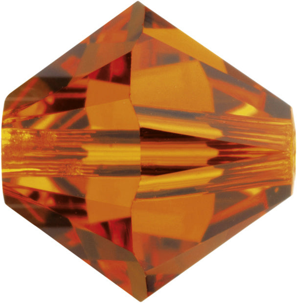 Swarovski Beads 5328 Bicone, 3MM, Tangerine - Pack of 30