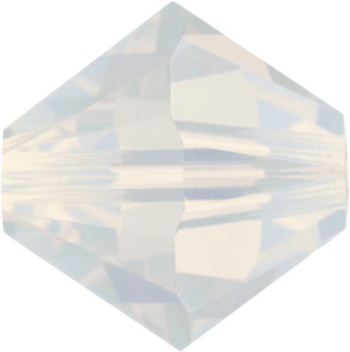 Swarovski Beads 5328 Bicone, 3MM, White Opal - Pack of 30