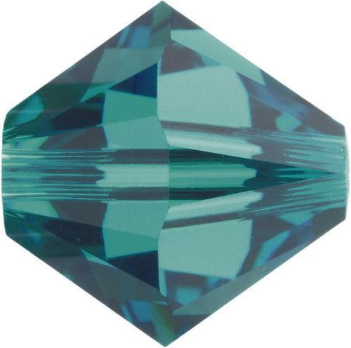 Swarovski Beads 5328 Bicone, 4MM, Blue Zircon - Pack of 25