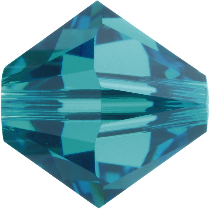 Swarovski Beads 5328 Bicone, 4MM, Blue Zircon AB - Pack of 25