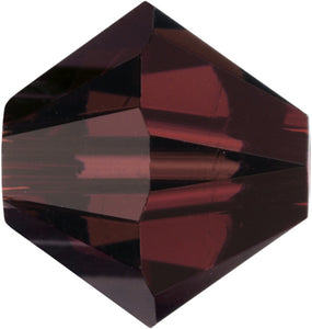 Swarovski Beads 5328 Bicone, 4MM, Burgundy - Pack of 25
