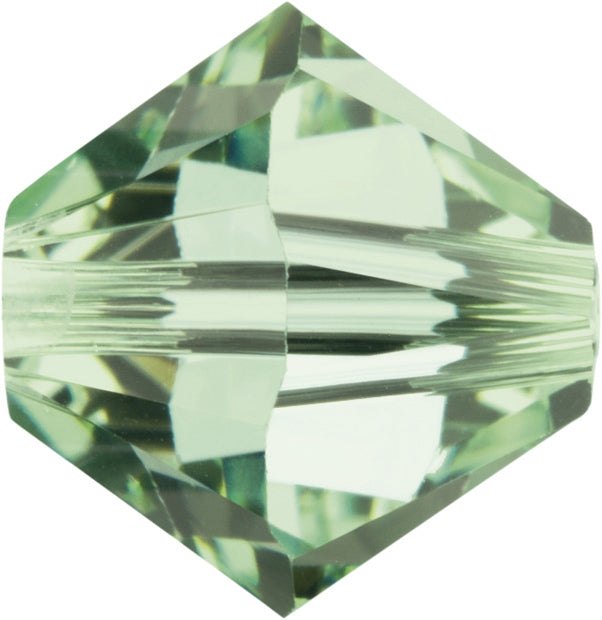 Swarovski Beads 5328 Bicone, 4MM, Chrysolite Opal - Pack of 25