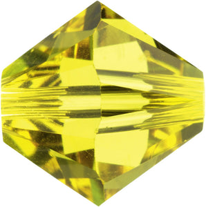 Swarovski Beads 5328 Bicone, 4MM, Citrine - Pack of 25