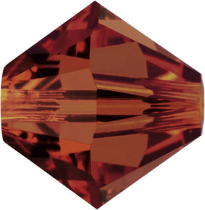 Swarovski Beads 5328 Bicone, 4MM, Crystal Red Magma - Pack of 25