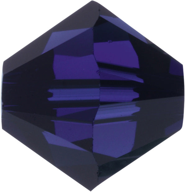 Swarovski Beads 5328 Bicone, 4MM, Dark Indigo - Pack of 25