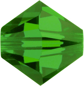Swarovski Beads 5328 Bicone, 4MM, Dark Moss Green - Pack of 25
