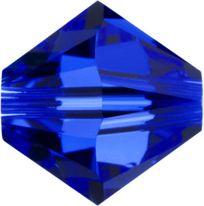 Swarovski Beads 5328 Bicone, 4MM, Dark Sapphire - Pack of 25