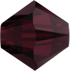 Swarovski Beads 5328 Bicone, 4MM, Garnet - Pack of 25