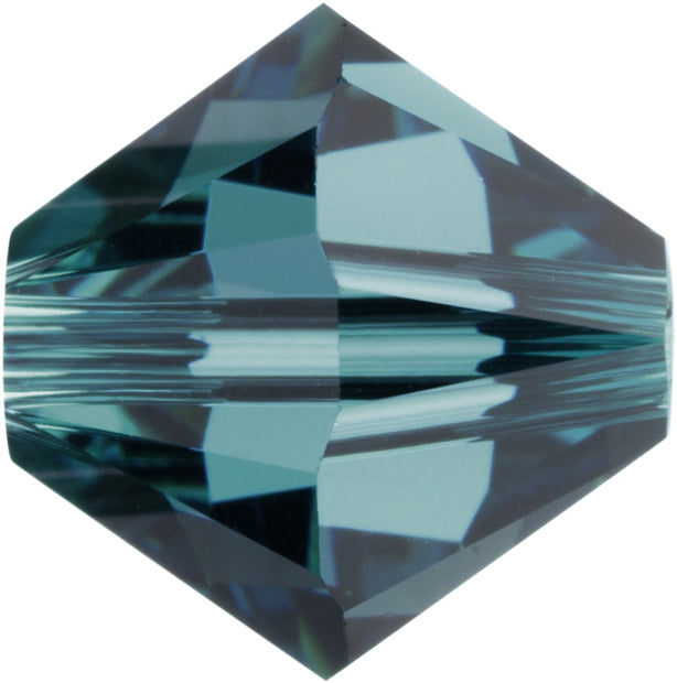 Swarovski Beads 5328 Bicone, 4MM, Indicolite - Pack of 25