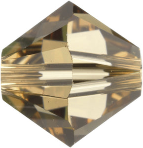 Swarovski Beads 5328 Bicone, 4MM, Light Colorado Topaz - Pack of 25