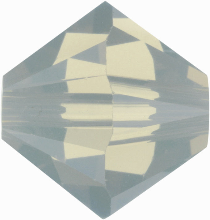 Swarovski Beads 5328 Bicone, 4MM, Light Grey Opal AB - Pack of 25