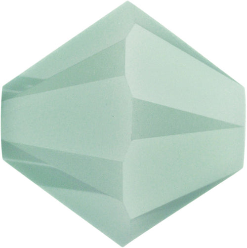 Swarovski Beads 5328 Bicone, 4MM, Mint Alabaster - Pack of 25