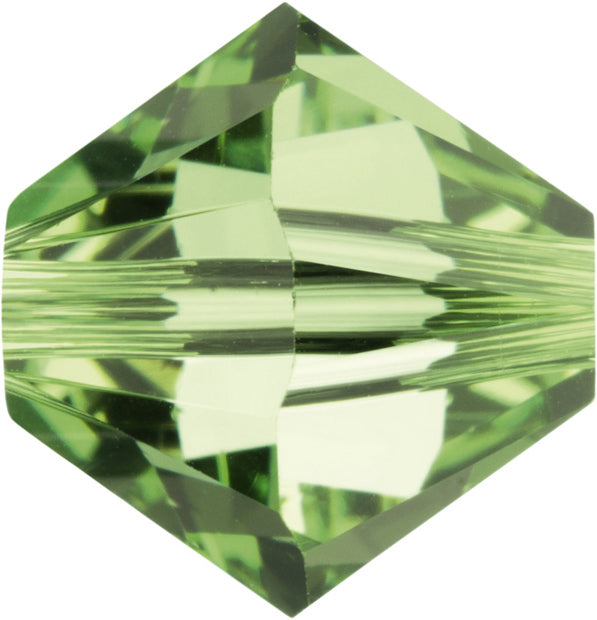 Swarovski Beads 5328 Bicone, 4MM, Peridot AB - Pack of 25